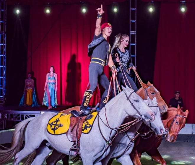 The circus will include more than 60 performers from around the world in three rings.