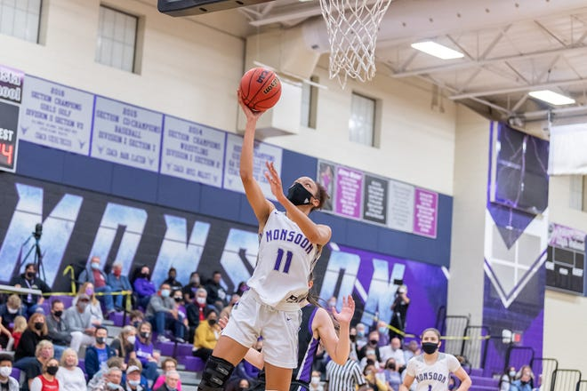 Valley Vista wing Marisa Davis attempts a layup during a game against Millennium during the 2021 season.