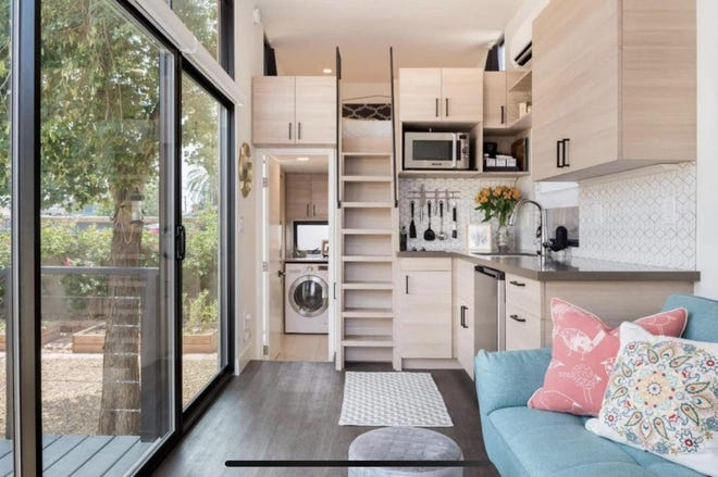 Phoenix mom Cassandra Cardenas offers up the tiny home in her backyard as an Airbnb rental to make extra money while staying at home with her kids.