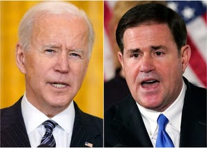 President Joe Biden and Arizona Gov. Ducey