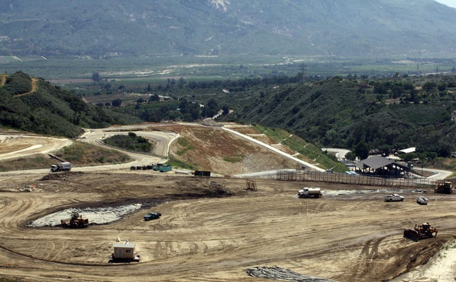 The Toland Road Landfill is located midway between Fillmore and Santa Paula.