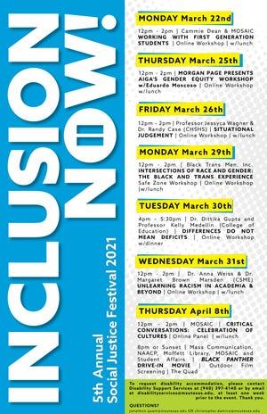 MSU to have social justice festival March 22-April 8.