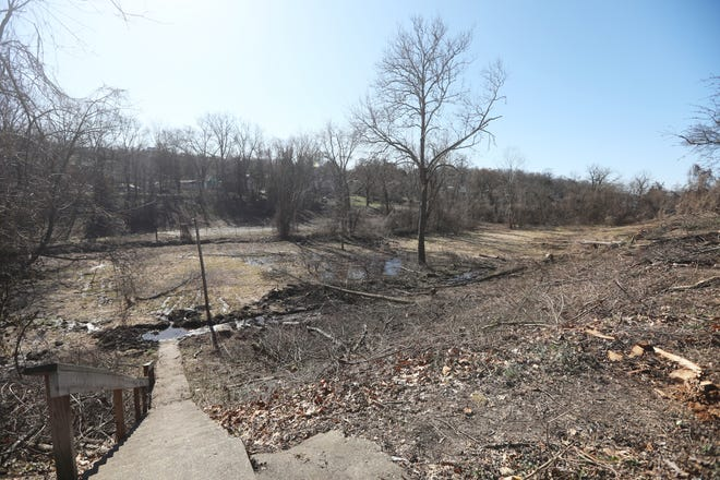 The City of Zanesville has begun work on improvements at Chaps Run Park. The long neglected park is being cleared and opened up, and planned improvements include a sled hill and gazebo, as well as walking paths.