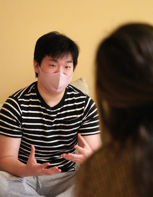 Randy Park, 22, talks on Friday, March 19, 2021, following the death of his mother, Hyun Jung Grant, in a series of shootings at Asian spas in the Atlanta area.