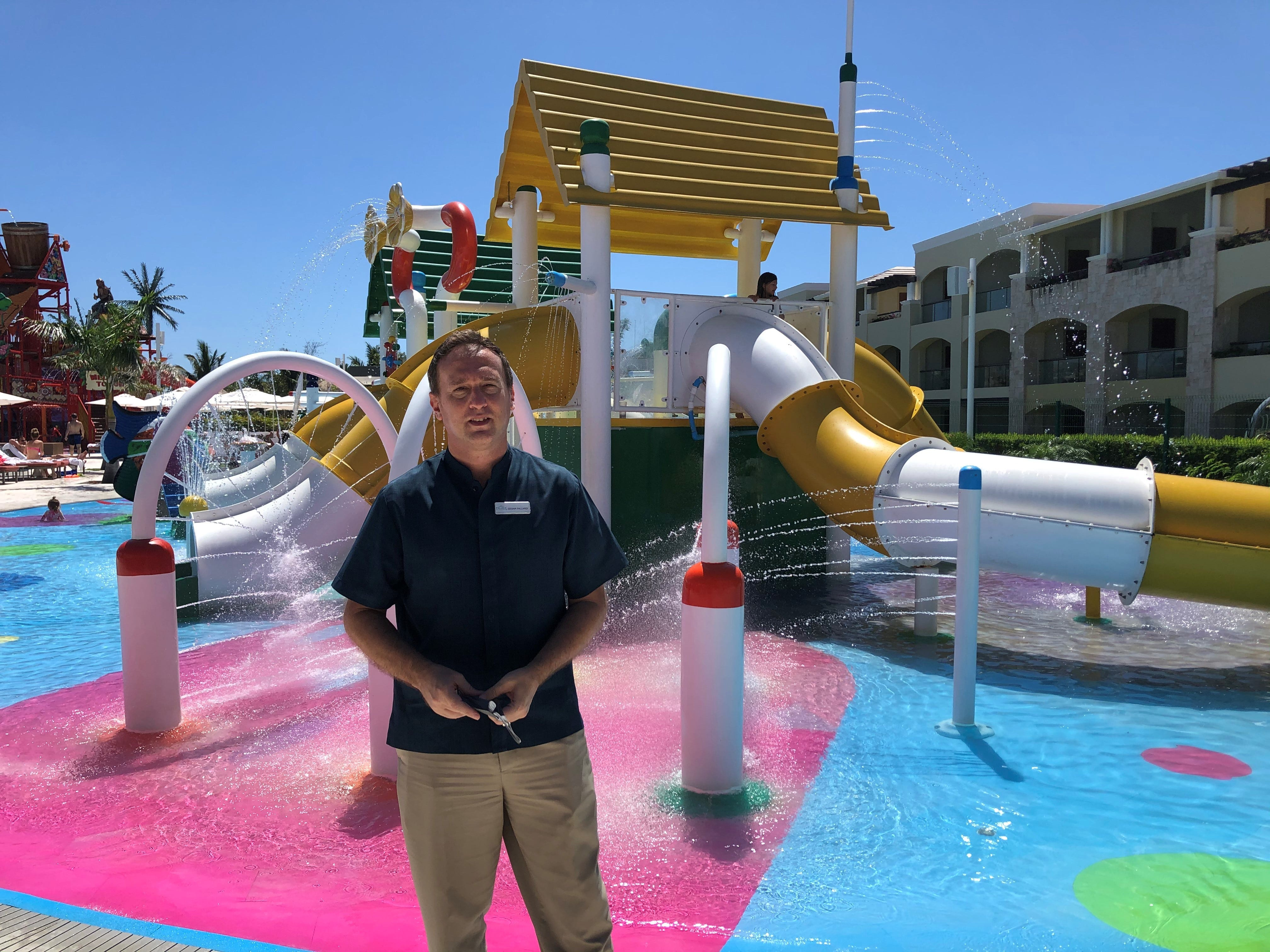 Cesar Fallardi, director of operations at The Grand at Moon Palace resort in Cancun, Mexico, which includes a water park, says bookings in late February surpassed pre-pandemic levels as travel resumes.