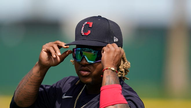 With Francisco Lindor off to the New York Mets, Cleveland's Jose Ramirez is clearly the shining star among position players heading into the 2021 season. [Ross D. Franklin/Associated Press]