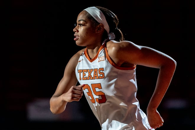 Texas forward Charli Collier (35) takes the court against Baylor during an NCAA basketball game in Austin, Monday, March, 1, 2021.