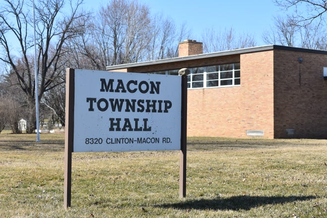 The Macon Township Hall is pictured in this March 20, 2021 file photo.