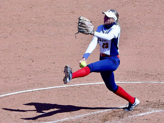 Hutchinson's Jordan Galliher pitches against Independence on Friday during the first game of a doubleheader at Fun Valley. HCC defeated Independence 9-5 in the first game.