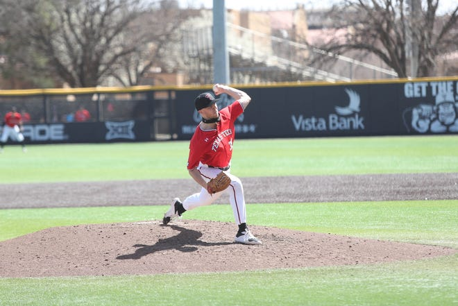 Texas Tech pitcher Patrick Monteverde improved his record to 4-0, allowing one run in six innings as the fourth-ranked Red Raiders beat No. 12 Oklahoma State 4-2 at Dan Law Field/Rip Griffin Park.