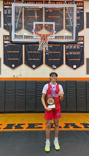 Tre Carroll of Charlotte High was the MVP of the South team after scoring 23 points to lead the South past the North in the Florida Athletic Coaches Association All-Star game Saturday at Lakeland High.