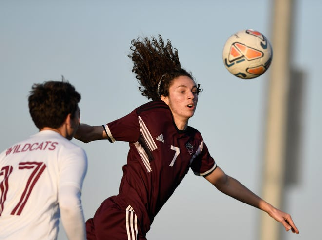 Calallen faces London in a soccer match, Friday, March 19, 2021, at London High School.