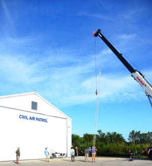 American Infrastructure Services, of Fort Myers erecting an antenna tower which will expand CAP's HF radio capability.