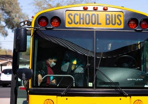 A Yuma bus driver was arrested on suspicion of slamming on the vehicle's brakes last week, injuring several students. Police said they believe it was intentional.
