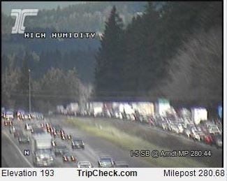 A crash south of Wilsonville closes all lanes of Interstate 5 Saturday afternoon.