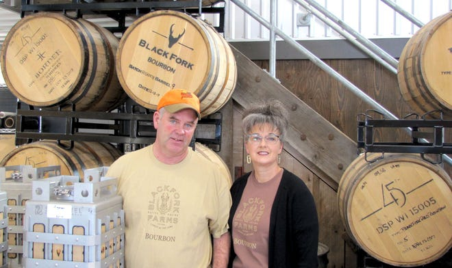 BlackFork Farms location near Brandt is managed primarily by Neal Ruhd and his wife Polly. Neal hosts many pheasant hunts on the property while Polly entertains guests in the tasting room.