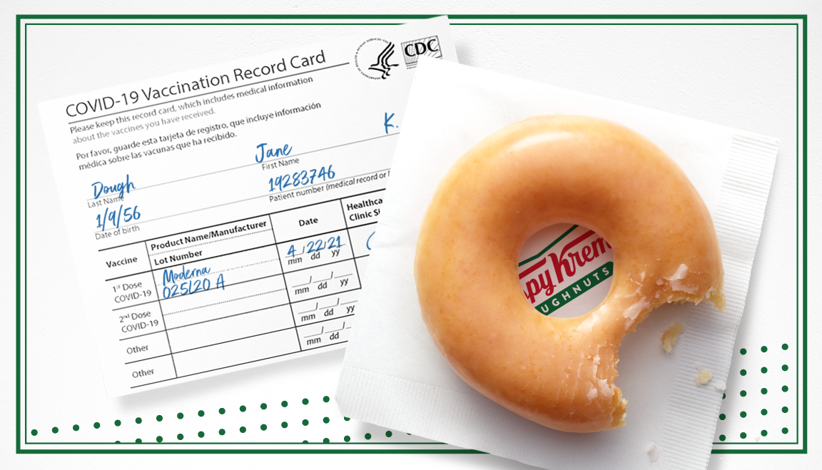 COVID-19 vaccine motivation: Krispy Kreme is giving away free doughnuts for showing vaccination card