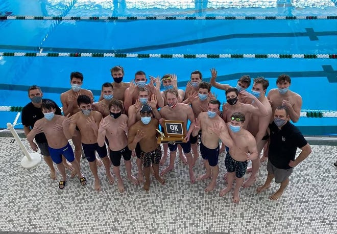 The West Ottawa boys swim team won their 8th straight OK-Red conference title on Saturday, March 20, 2021