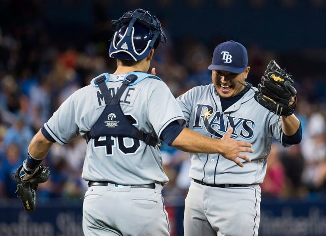 Erasmo Ramirez, right, was a starting pitcher for the Tampa Bay Rays a few years ago. Now with the Tigers, Ramirez has turned himself into a utility pitcher of sorts.