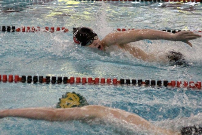Carson Parris won the 200-yard freestyle for Milan in the SMISL championships Saturday.