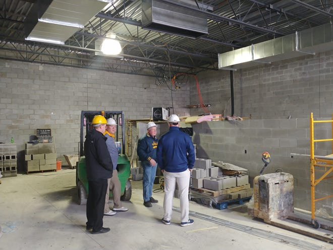 This photo from February 2020 shows a new welding lab being constructed inside Airport High School.