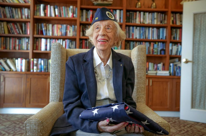 Yvette Vary, who served during World War II as a Navy WAVE,  celebrated her 100th birthday on Sunday at the Atria Bay Spring Village assisted living facility in Barrington.