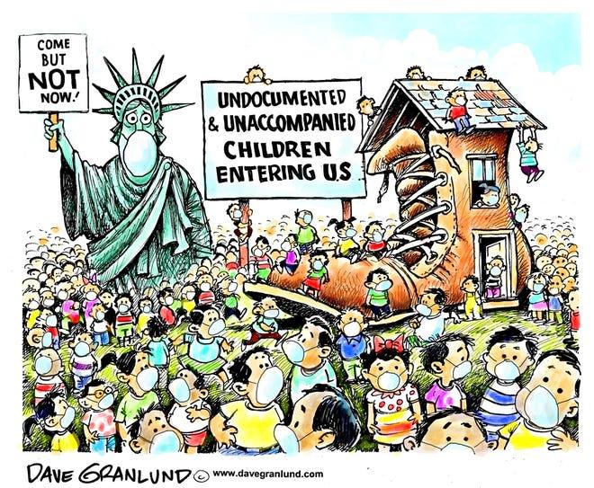 Granlund cartoon: Kids crossing the U.S. border Dave Granlund cartoon on kids crossing the U.S. border.