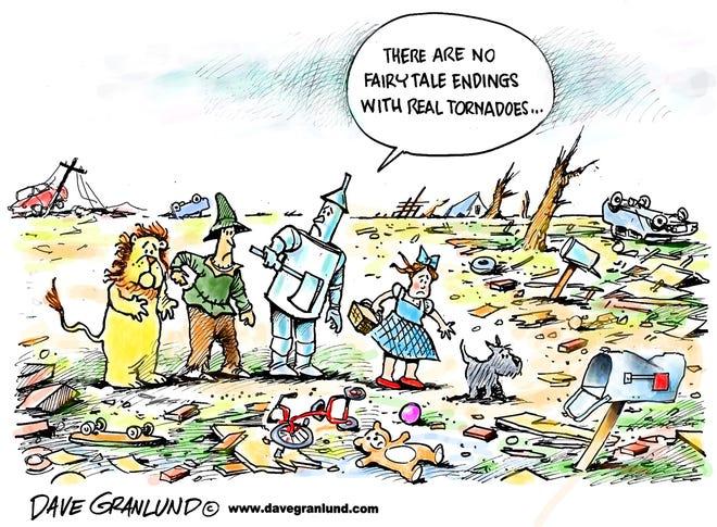 Granlund cartoon: No fairytale endings Dave Granlund cartoon on tornado victims.