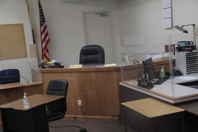 Photo of one of the court rooms at the Siskiyou County Courthouse taken in November.