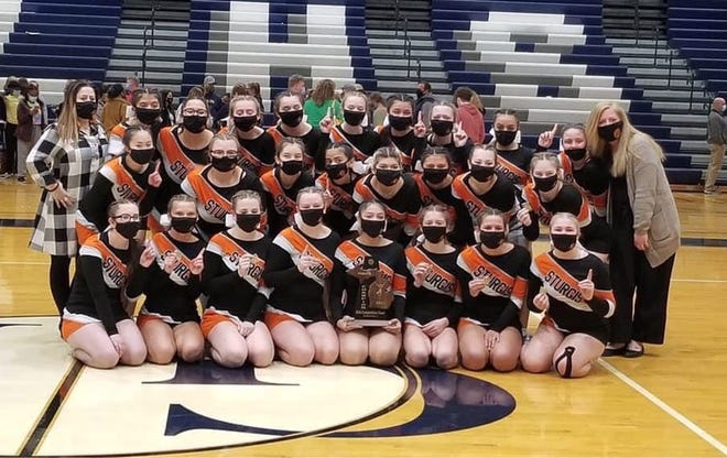 The Sturgis competitive cheer team won a district championship on Saturday evening.
