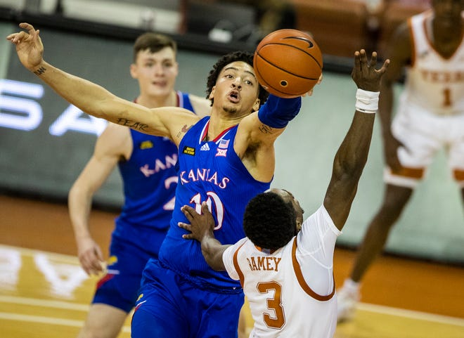 Kansas basketball redshirt freshman forward Jalen Wilson is expected to rejoin the Jayhawks by 10 a.m. EDT Monday in Indianapolis and be available for the team's Round of 32 matchup against six-seeded USC, coach Bill Self said Sunday. Wilson has been sidelined by COVID-19 protocols.