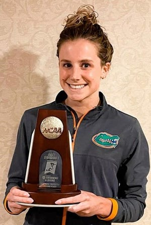 Florida's Talia Bates finished second in the 200 free at the NCAA Championships this weekend.