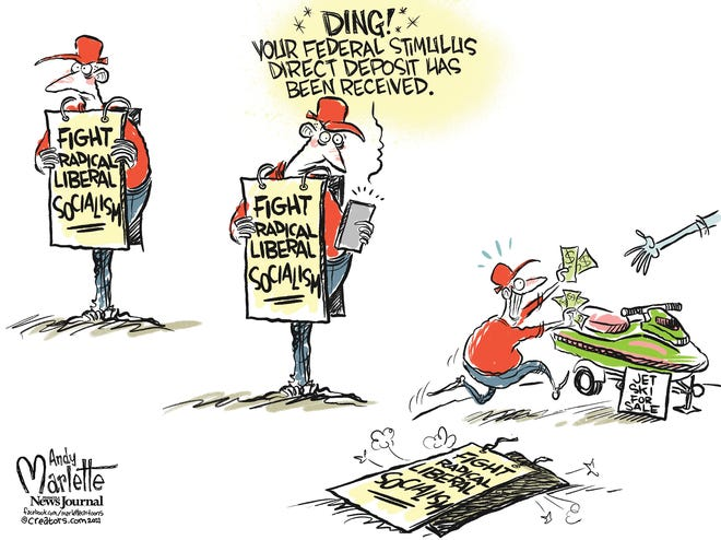 Stimulus checks stimulate those against government intrusion.