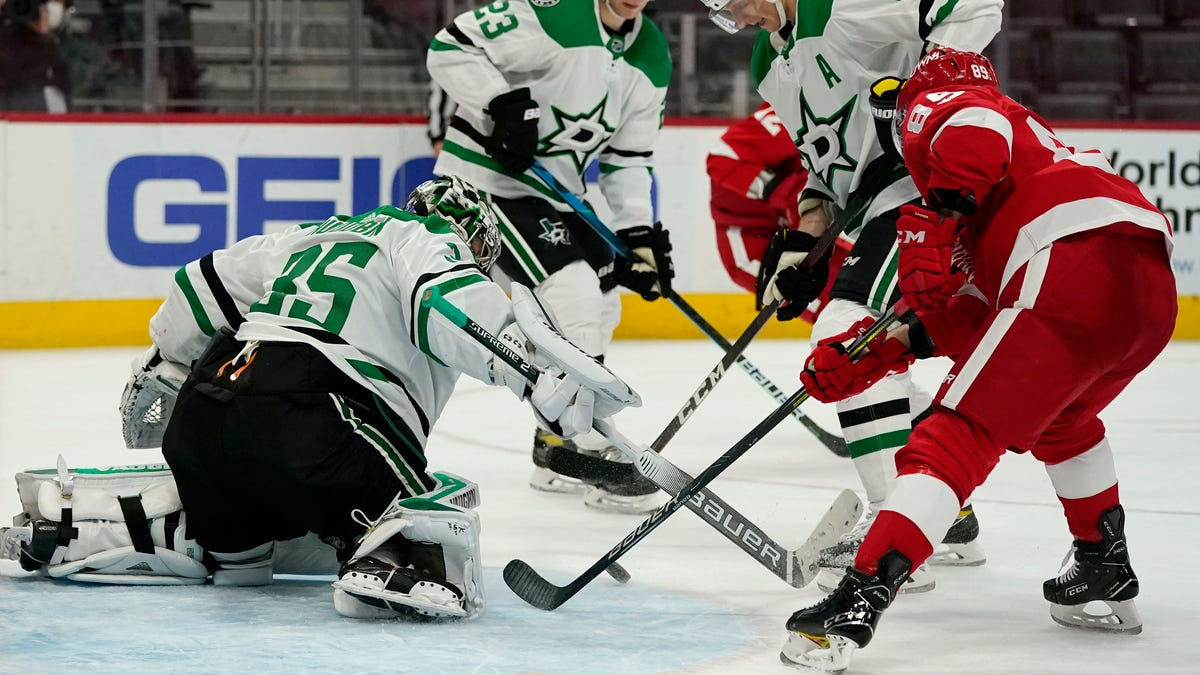'They didn't give us much': Stars shut down Red Wings in 3-0 victory 2
