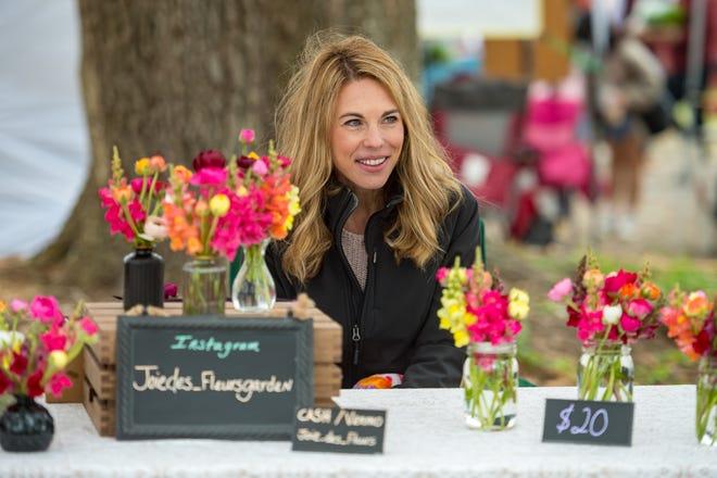 Jennifer Godley at Joie des Fleurs Garden at the Farmers Market at Moncus Park. Saturday, March 20, 2021.