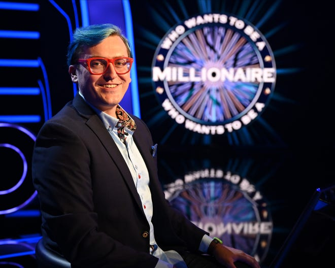 "Food delivery driver Ryan Fox plays for the million-dollar prize on the season finale of ""Who Wants To Be A Millionaire?"" Sunday."