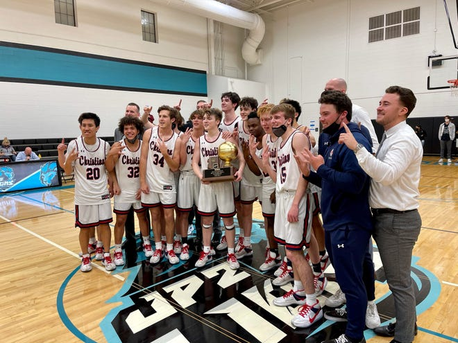 Scottdale Christian won the 2A boys basketball title on Saturday night, March 20, 2021.