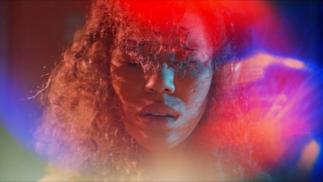 "Jasmin Savoy Brown plays a woman enraptured by a euphoric sensation when she experiences horrific brutality in the thriller ""Sound of Violence."""