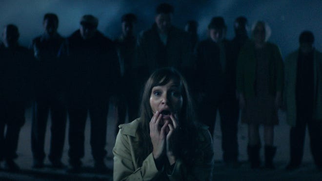 """Jocelin Donahue stars as a woman who travels to a desolate island and becomes trapped in a nightmare in """"Offseason."""""""