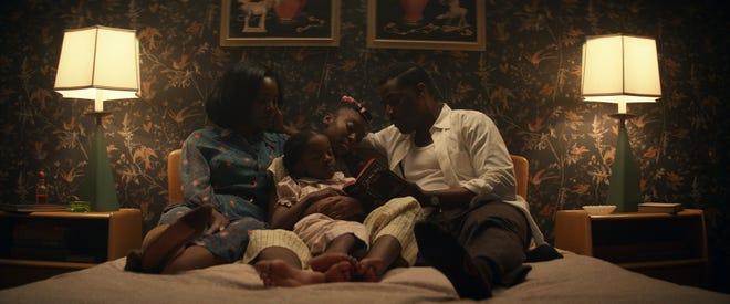 "Deborah Ayorinde (from left), Melody Hurd, Shahidi Wright Joseph and Ashley Thomas star as a 1950s Black family that moves to California in the Amazon horror series ""Them."""