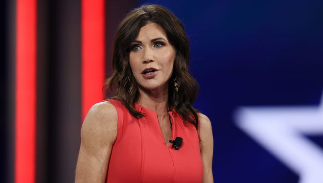 South Dakota Gov. Kristi Noem addresses the Conservative Political Action Conference on Feb. 27 in Orlando, Fla.