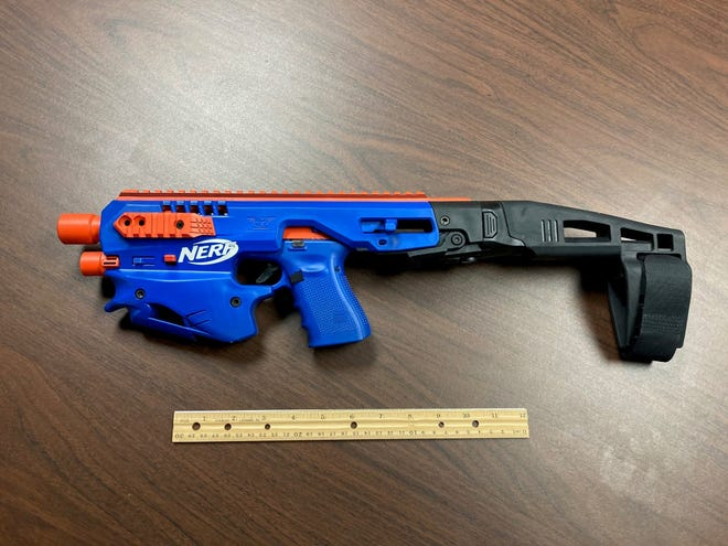 Police seize real gun disguised as Nerf toy in NC raid