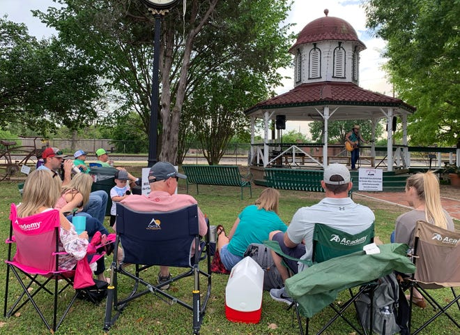 In this file photo, Briana Adams was a featured artist at the Smithville Chamber of Commerce's Music in the Park series in 2019. She will again perform on April 8 during this year's series at Railroad Park. Smithville residents make their way out to the park to enjoy live music, good food and cool drinks.