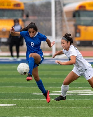 Isela Ramirez and Pflugerville clinched the District 18-5A championship last week with a win against Connally and will open the playoffs against Crockett later this week.