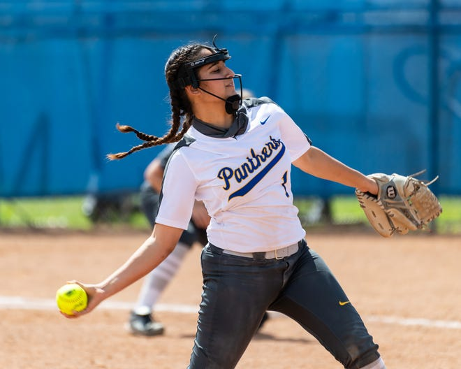 Pflugerville pitcher Delilah Robles earned two wins last week. The sophomore limited Hendrickson to two hits while striking out 13 in a shutout, and she then pitched five innings of two-hit ball while striking out nine in a win over Cedar Creek.