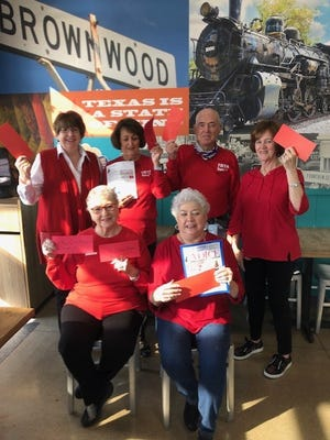 Members of the Brown County Retired Teachers Association are joining in a Red Letter Campaign.