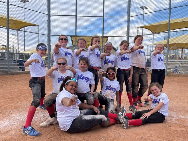 Sheffield's 10U Glory claimed the championship at the Bat Attitudes Tournament over the weekend at the Bert Massey Sports Complex. Sheffield's 10U Glory posted a 6-1 record and outscored their opponents 67-19. Bottom, from left, are Brenda Allen and Jaime Lyon. Middle row: Rylee Owens, Brylee Chandler and Kendra Allen. Top Row: Macy Mask, Adysn Atchley, Avery Stifflemire, Hadley Sweaney, Reagan Fletcher, Gabrelle Volz, Jordan Johns and Aubree Sanford.