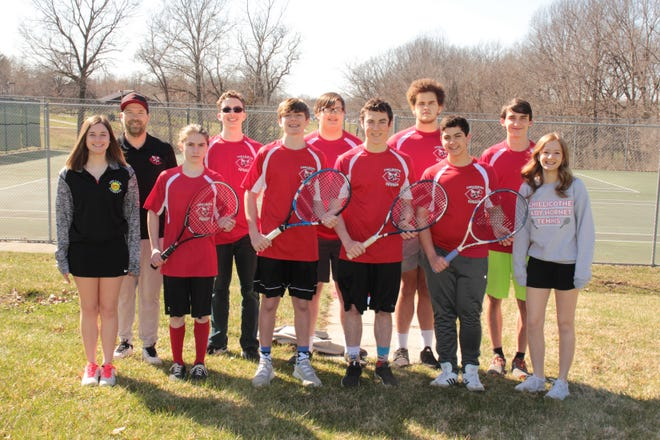 The nearly-totally overhauled 2021 Chillicothe High School boys' tennis Hornets were to open their new season Tuesday at Carrollton. None of this year's Hornets have any varsity-match experience after the 2020 season was canceled, due to COVID-19.
