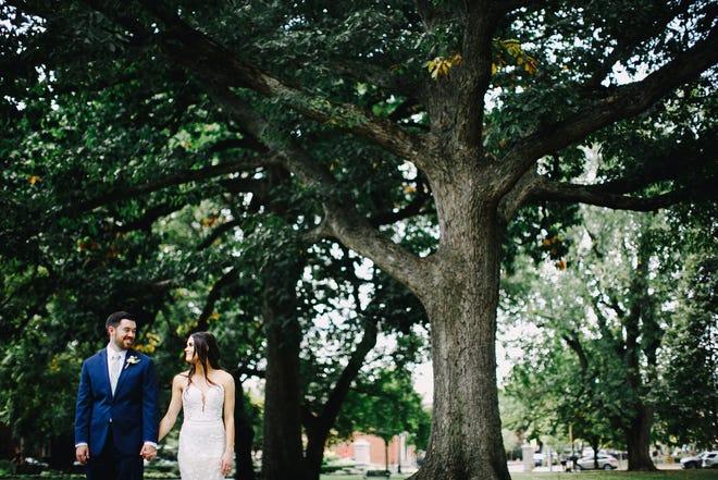 Abby and Matt Wrieden at their September 2020 wedding