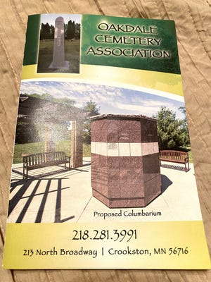 Oakdale Cemetery Association has created a brochure that details its fundraising project.